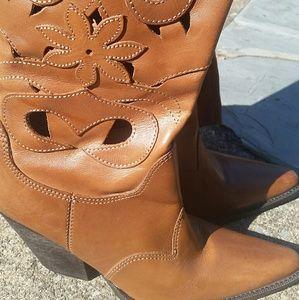Carlos Santana Leather Boot Sz 9